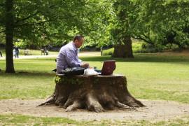 Puistoilua Lontoossa